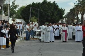 El contingente partió de la Alameda Zaragoza rumbo a la parroquia de Nuestra Señora de Guadalupe.
