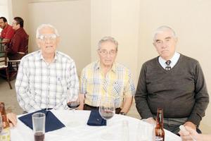 02122015 COLEGAS.  Sergio Barraza, Alfonso Valdés y Manuel Delgado.