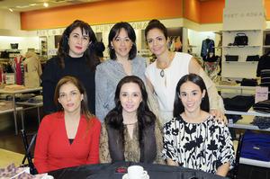 02122015 ENTRE AMIGAS.  Mariana Chávez, María Luisa Parra, Lucía Sierra, Any Mexsen, Mónica Orduño y Marissa Ibarra.