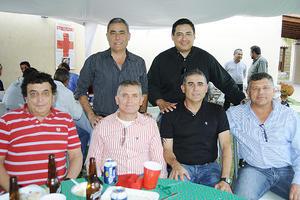 03122015 REUNIóN DE SAMPETRINOS.  Antonio Rabule, Armando Handal Babún, Víctor Handal, Javier Banbú, Ibrahim Banbú y Luis 'Chato' Rodríguez.