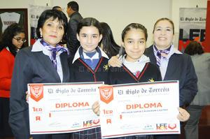 Fueron 15 los alumnos los que lograron la mayor puntuación de entre casi 200 estudiantes de primaria, secundaria y preparatoria de 22 escuelas de la región Lagunera de Coahuila y Durango.