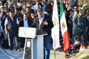 El alcalde de Torreón, Miguel Riquelme, comentó que la Línea Verde es un ejemplo de rescate de un área de la ciudad.