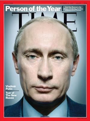 Elogiando sus esfuerzos por crear una nueva Rusia, Vladímir Putin obtuvo el logro en 2007.