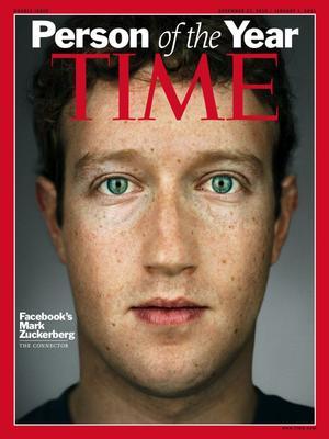 Mark Zuckerberg, fundador de Facebook, fue reconocido en 2010.