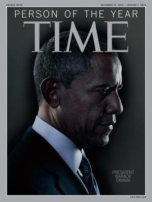"""Obama, quien ya había sido """"personaje del año"""" en 2008, repitió en 2012."""