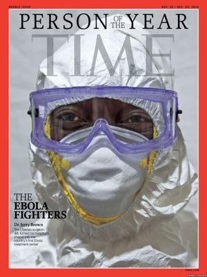 """En 2014, los trabajadores sanitarios que lucharon contra la epidemia de ébola fueron la """"persona del año""""."""