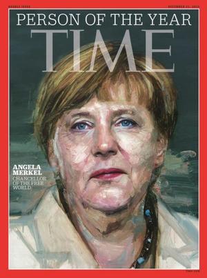 """Angela Merkel, canciller federal alemana, es el """"personaje del año"""" de este 2015 que corre."""