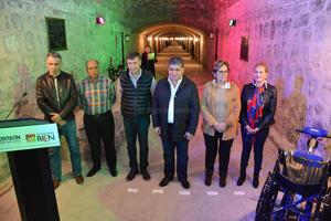 El alcalde, Miguel Riquelme, encabezó la ceremonia de la rehabilitación del Canal de la Perla.