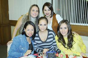 Blanca, Gaby, Marichelo, Estephani y Sandra