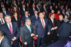 Estuvo acompañado por el gobernador Rubén Moreira.