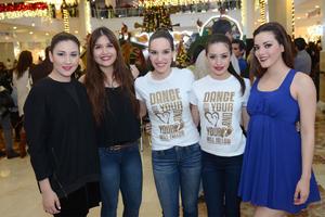 11122015 Frida, Angie, Grace, Giovanna y Nadia.