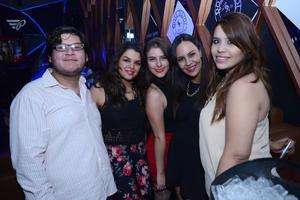 10122015 EN EL ANTRO.  Julio, Ana Laura, Gemma, Mónica y Paty.