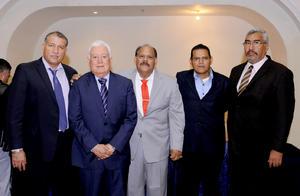 13122015 Lic. Jesús Jasso Frayre, Dr. Jesús Gerardo Sotomayor Garza, Dr. Francisco López Gutiérrez, Lic. Jesús Francisco Estrada Picena y Dr. Juan Calvillo Hernández.