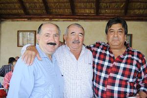 12122015 Paco Bilbao, Toño Fernández y Willy Jiménez.