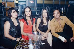 16122015 DE ANTRO.  Brenda, Pamela, Selena y Gibran.