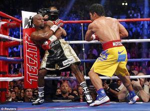 """Uno de los sucesos deportivos más importantes fue el duelo entre Floyd Mayweather y Manny Pacquiao, anunciada como """"la pelea del siglo""""."""