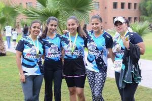 20122015 ATLETAS.  Liviar, Andrea, Cristina, Gaby y Analía.