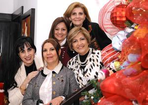 21122015 Carolina, Gaby, Celia, Alicia y Margarita.