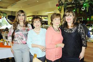 22122015 FESTEJAN.  Sandra, Elisa, Lupita y Gaby.