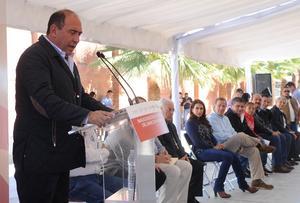 Rubén Moreira acompañó al secretario durante su gira de trabajo.
