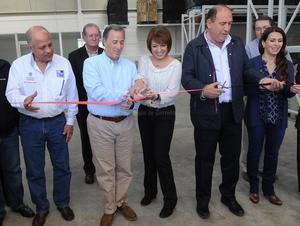 José Antonio Meade inauguró la ampliación del Banco de Alimentos de Cáritas.