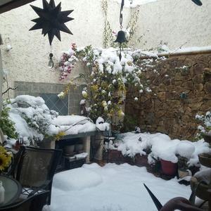 La nieve cayó debido a la quinta tormenta invernal.