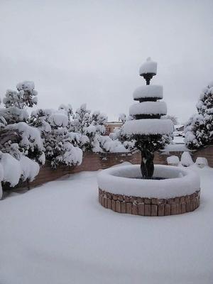 En redes sociales abundan las distintas postales sobre la nevada en Juárez.
