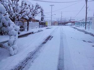 Ciudad Juárez amaneció cubierta de nieve.
