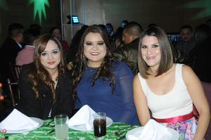 Cony Ramos, Tania Zapata y Mónica Cárdenas