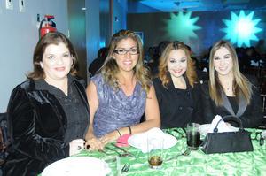 Cristy Cobos, Gaby Ibarra, Roxana Ramírez y Natalia Ramos