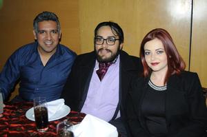 José Antonio Candelas, Luis Luna y Cecilia González