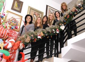Yadira, Laura, Nora, Magda, Cecy e Irma