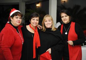 María Elena, Ángela, Paty y Emma