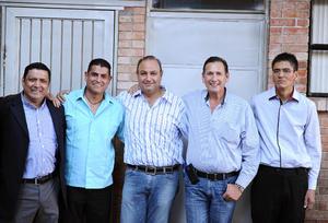 29122015 Felipe, Adolfo, Juan Ramón, Mario y Fernando.