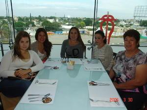 28122015 Alejandra, Dulce, Claudia, Luz María y Leticia.
