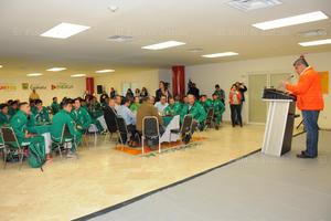 Riquelme felicitó a los jugadores y les pidió ser un ejemplo para las nuevas generaciones.