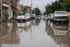 En calles de la colonia La Merced las calles casi siempre registran inundaciones cuando hay lluvias.