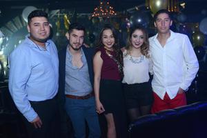 Carlos, Aarón, Lorena, Fanny y Alan