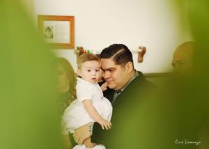 Acompañado de su papá, Alejandro Espinoza