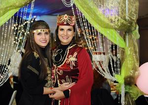 Con su hija, Zaira