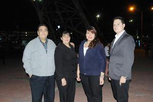 09012016 POSAN PARA LA FOTO.  Conrado Barrón, Aracely G., Aracely B. y Daniel Vargas.