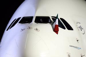 Con música mexicana interpretada por un marichi y con chorros de agua por parte del Cuerpo de Rescate y Extinción de Incendio (CREI), México dio la bienvenida al vuelo AF438.