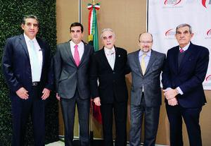 10012016 Felipe Cedillo, Alfredo Murra, Víctor Mayagoitia, Arturo Carbajal y Eduardo Murra.