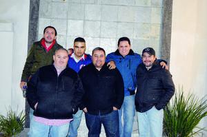 10012016 ENTRE AMIGOS.  Horacio Vargas, Jorge Mata, Brian Pichardo, Irving Pichardo, Pepe Pulido y Pablo Hernández.