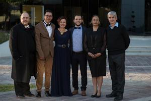 11012016 Manu Sosa, Juan Diego Hinojosa, Pineda Damián, Ana Olga Rodríguez y Claudia Chávez.