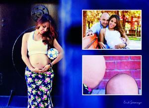 10012016 Gonzalo y Mónica captados en una divertida sesión con motivo de la llegada de su primer bebé, quien nació el pasado viernes 8 de enero del año en curso y a quien llamarán por nombre Diego.- Érick Sotomayor Fotografía