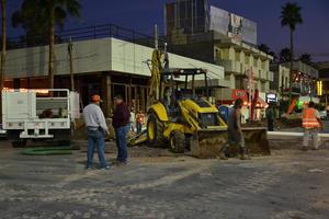La Dirección Jurídica del Municipio multará también por el daño causado al pavimento.