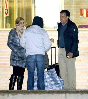 """Al salir, su esposa Vanessa Guerrero se dijo emocionada mientras repetía """"ese es mi Moreira, ese es mi marido""""."""