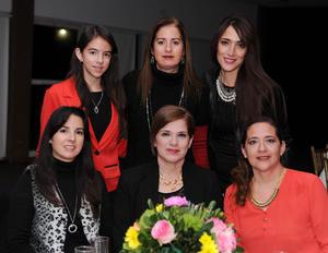 Ana Cristina, Lourdes, Ana, Cristina, Pilar y Cecilia
