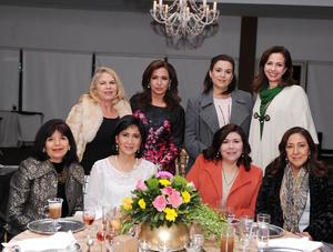 Karla, Yolanda, Cristy, Clarissa, Chepis, Tere, María y Juana